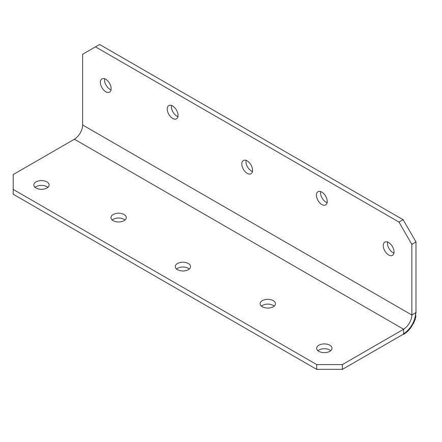 Picture of Simpson Strong-Tie ML28Z L-Angle, 2 in W, 8 in H, Steel, ZMAX