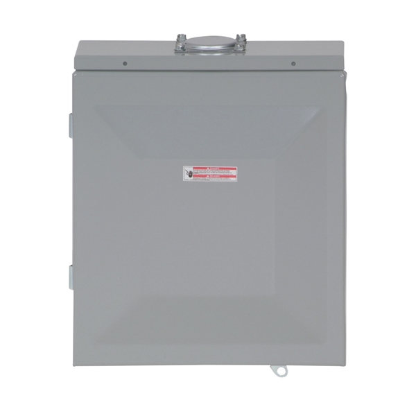 Picture of Cutler-Hammer BR Series BR48L125RP Load Center, 125 A, 4-Space, 8-Circuit, Main Lug, NEMA 3R Enclosure