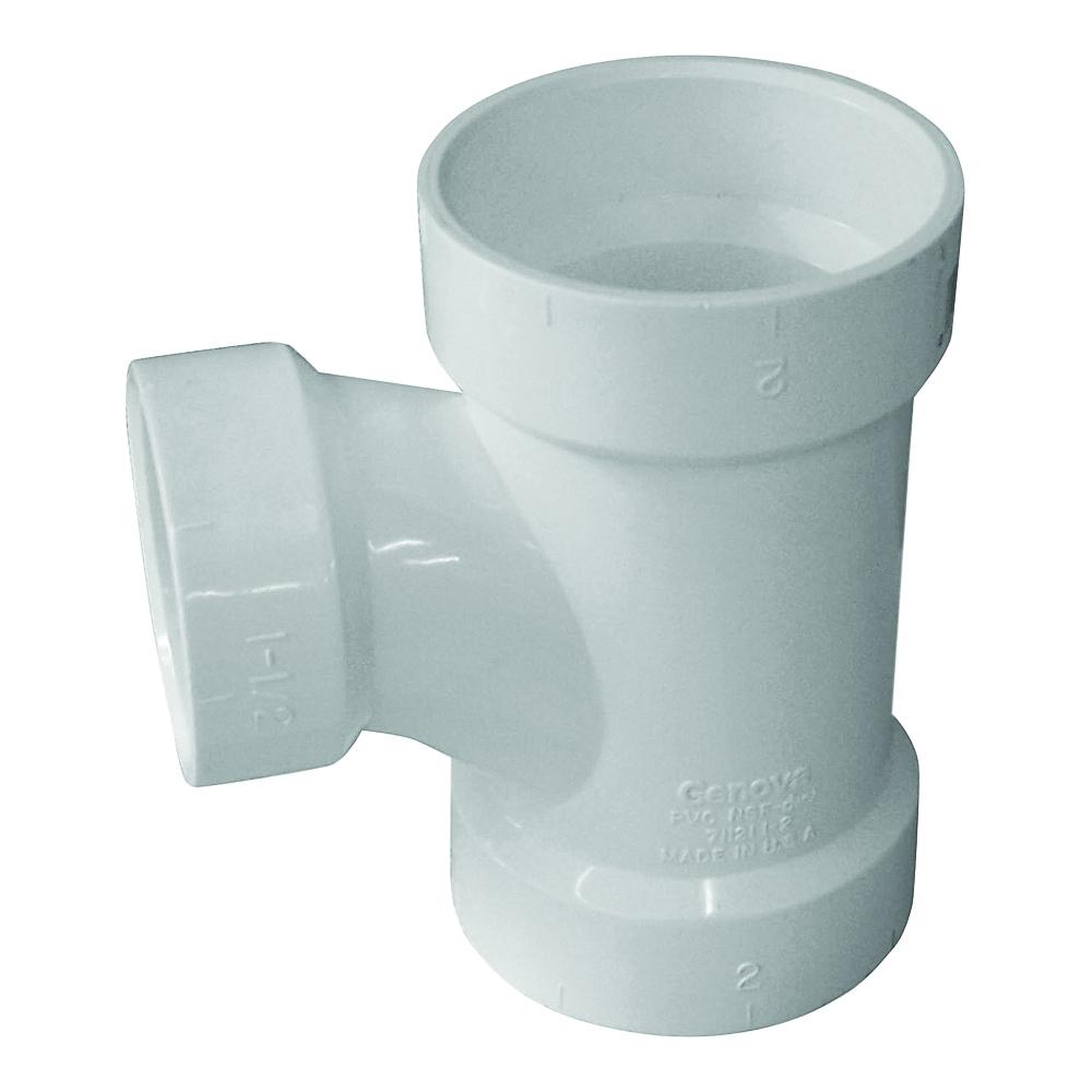 Picture of GENOVA 700 71142 Reducing Sanitary Tee, 4 x 2 in, Hub, PVC, SCH 40 Schedule