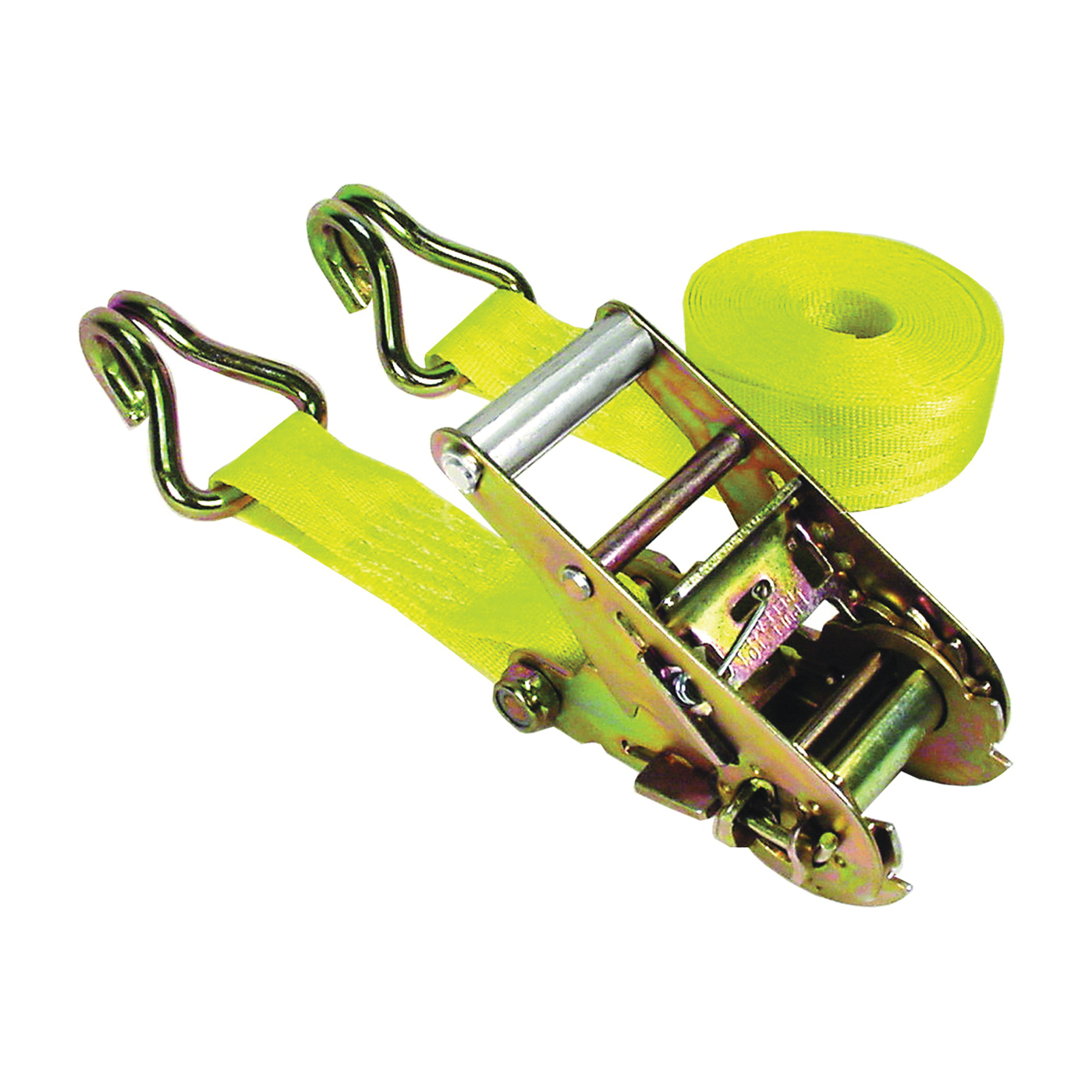 Picture of KEEPER 05519 Tie-Down, 1-3/4 in W, 15 ft L, Polyester, Yellow, 1666 lb, J-Hook End Fitting