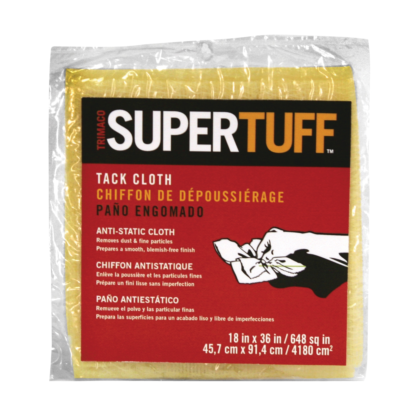 Picture of Trimaco SUPERTUFF 10501 Tack Cloth, 18 in L, 36 in W, Cotton