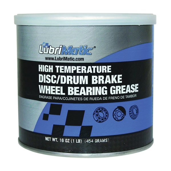 Picture of LubriMatic 11380 Wheel Bearing Grease, 16 oz Package, Can, Slight Hydrocarbon, Blue