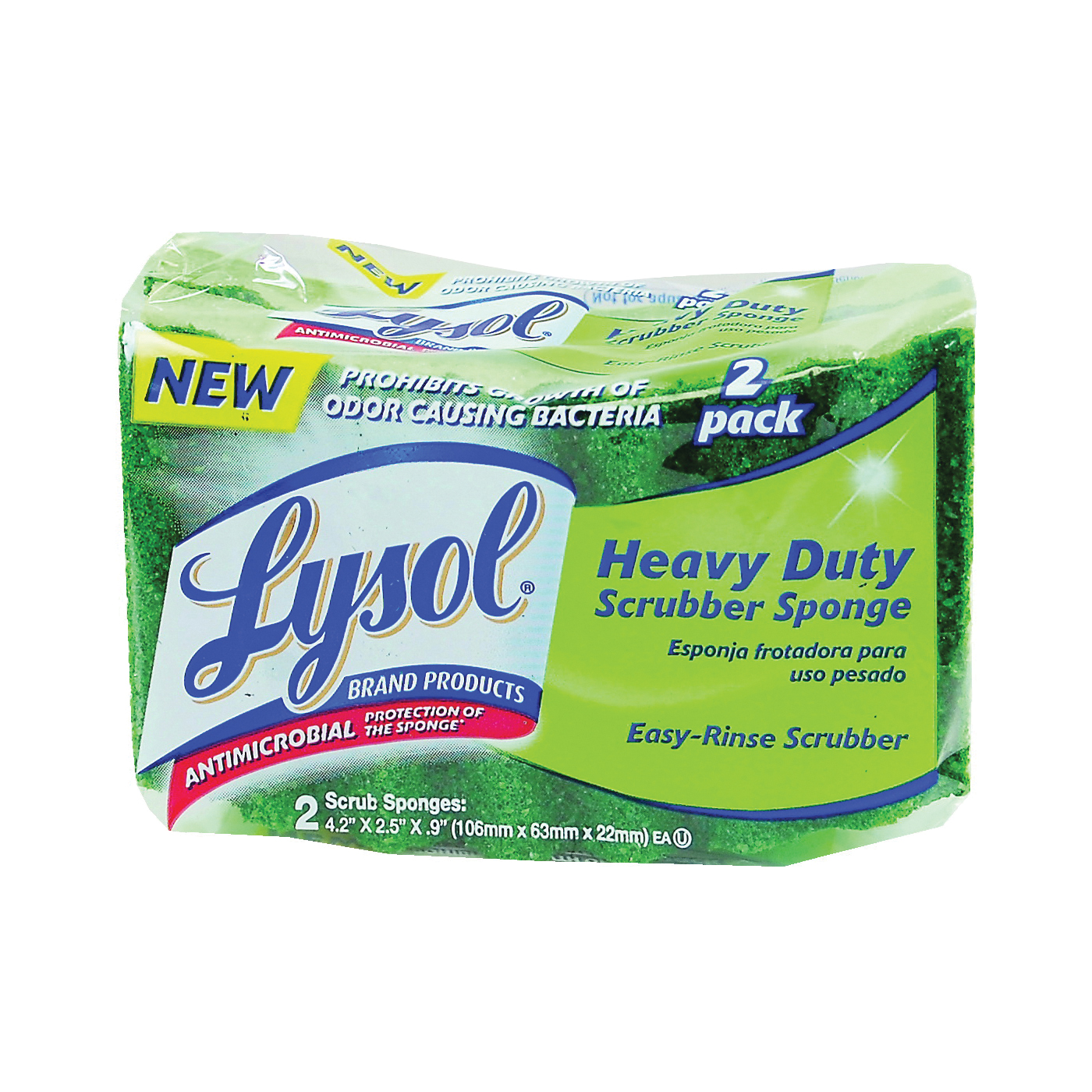 Picture of Quickie Lysol 57507-2CAN Heavy-Duty Scrub Sponge