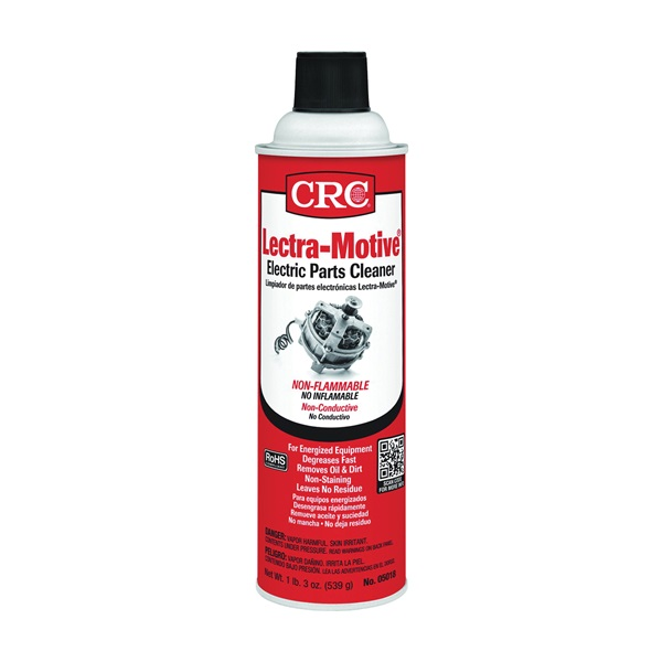 Picture of CRC Lectra-Motive 05018 Electric Parts Cleaner, 20 oz Package, Aerosol Can, Liquid