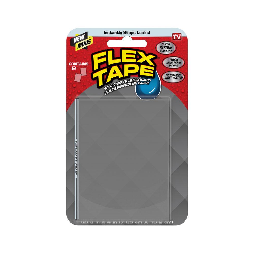 Picture of Flex Seal TFSCLRMINI Flex Tape, 4 in L, 3 in W, Clear, 2, Pack
