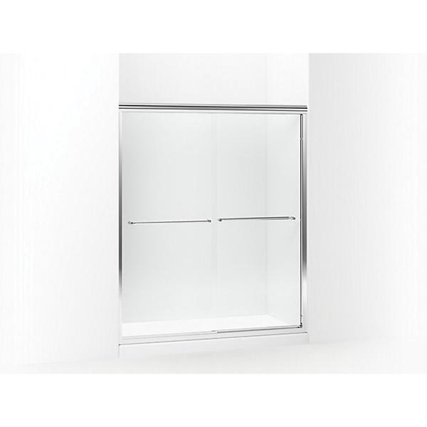 Picture of Sterling 5475-59S-G05 Shower Door, Clear Glass, Tempered Glass, Frameless Frame, Aluminum Frame, Stainless Steel