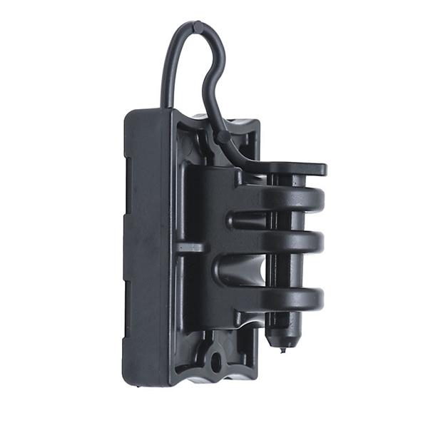 Picture of Zareba Fi-Shock IWTPLB-FS Pin-Lock Insulator, 9 to 22 ga Fence Wire, Aluminum/Polywire/Steel, Black