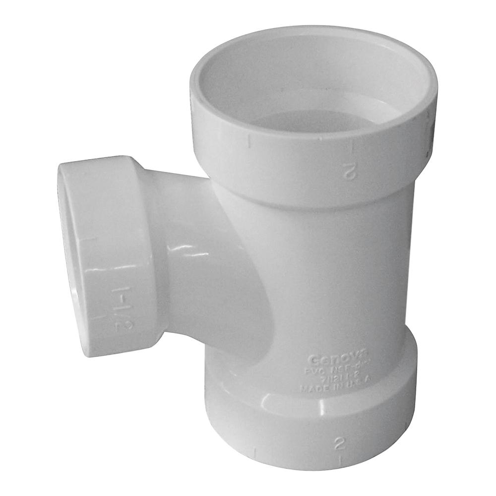 Picture of GENOVA 700 71122 Reducing Sanitary Tee, 2 x 1-1/2 x 2 in, Hub, PVC, SCH 40 Schedule