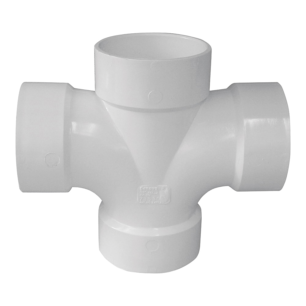 Picture of GENOVA 73521 Sanitary Tee, 2 x 1-1/2 x 1-1/2 in, Hub, PVC, SCH 40 Schedule