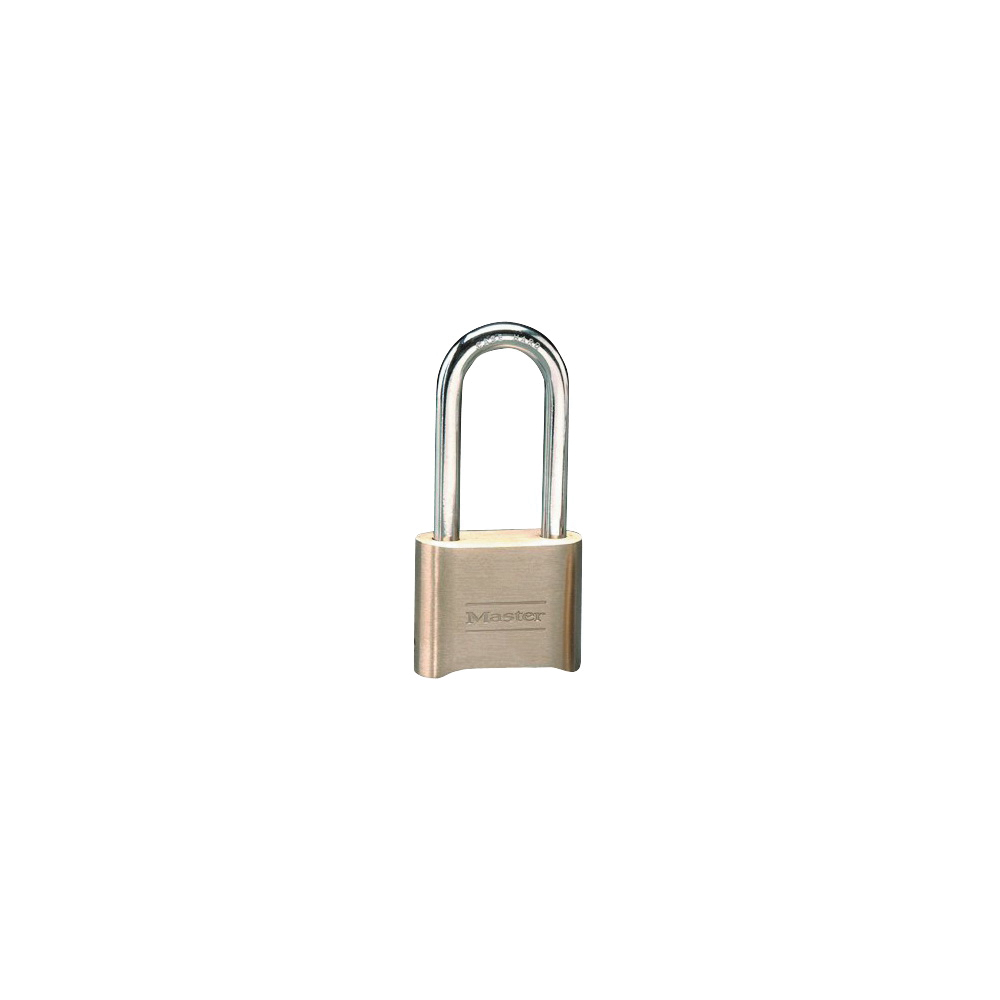 Picture of Master Lock 175DLH Combination Padlock, 5/16 in Dia Shackle, 2-1/4 in H Shackle, Steel Shackle, Brass Body