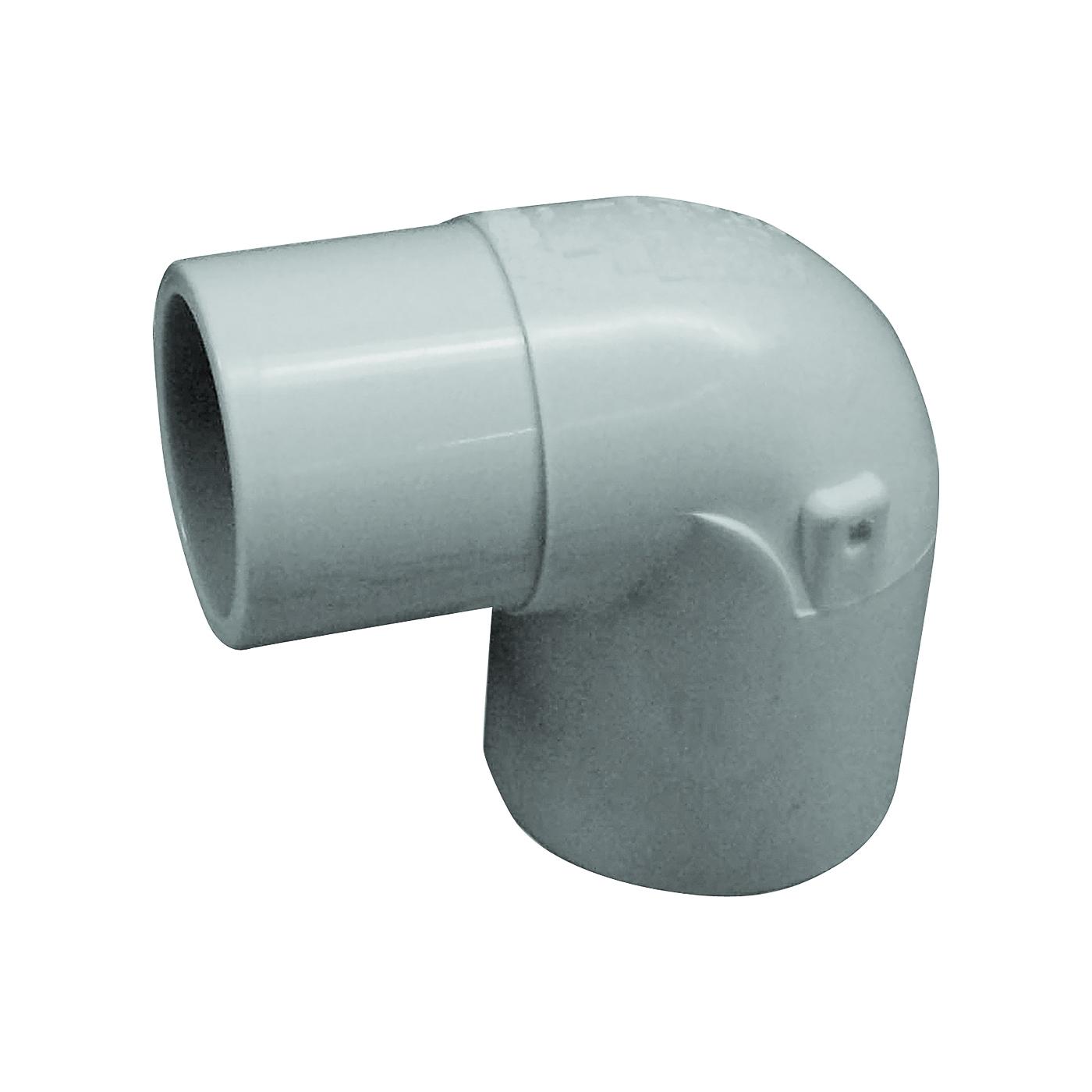 Picture of GENOVA 300 32905 Street Pipe Elbow, 1/2 in, Slip x Spigot, 90 deg Angle, PVC, White, SCH 40 Schedule