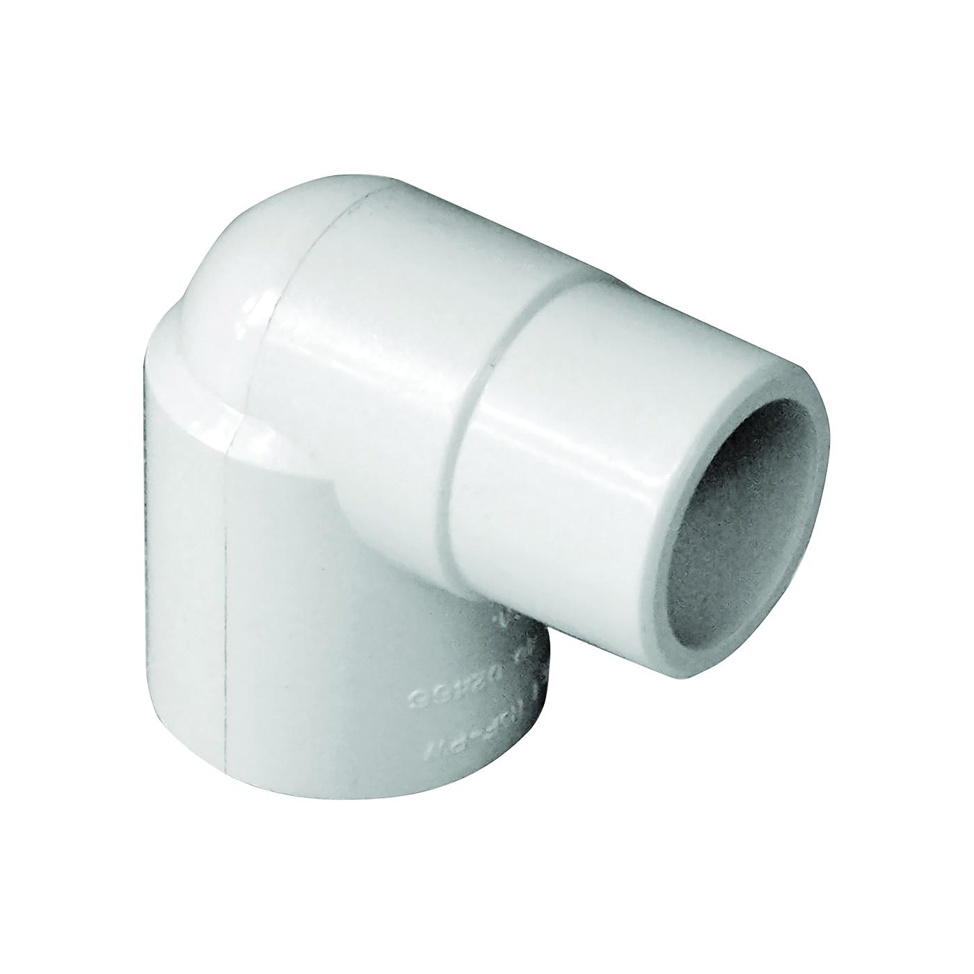Picture of GENOVA 300 32907 Street Pipe Elbow, 3/4 in, Slip x Spigot, 90 deg Angle, PVC, White, SCH 40 Schedule