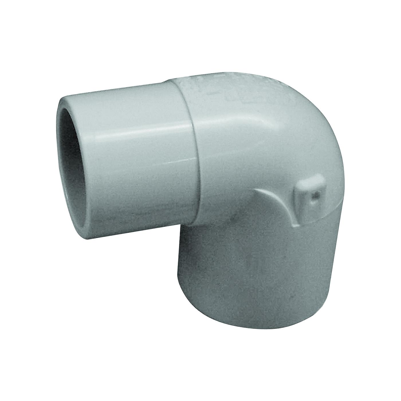 Picture of GENOVA 300 32920 Street Pipe Elbow, 2 in, Slip x Spigot, 90 deg Angle, PVC, White, SCH 40 Schedule