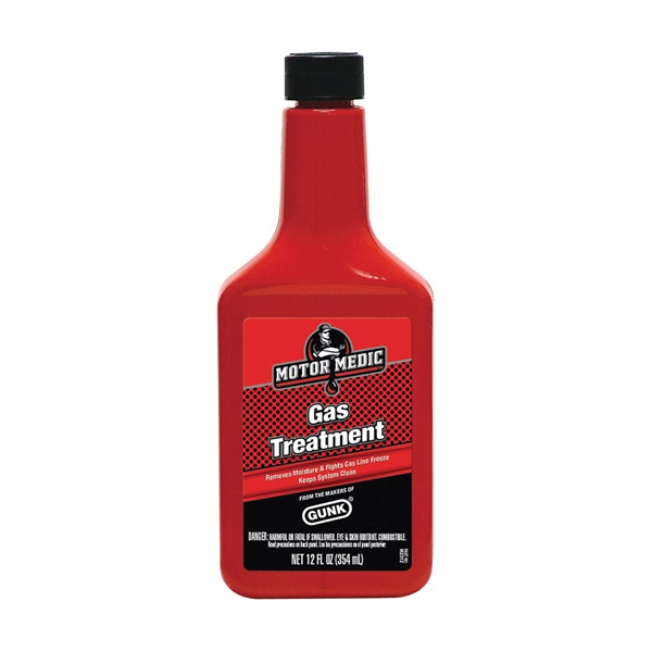 Picture of GUNK M2312 Gas Treatment Dark Red, 12 oz Package, Bottle