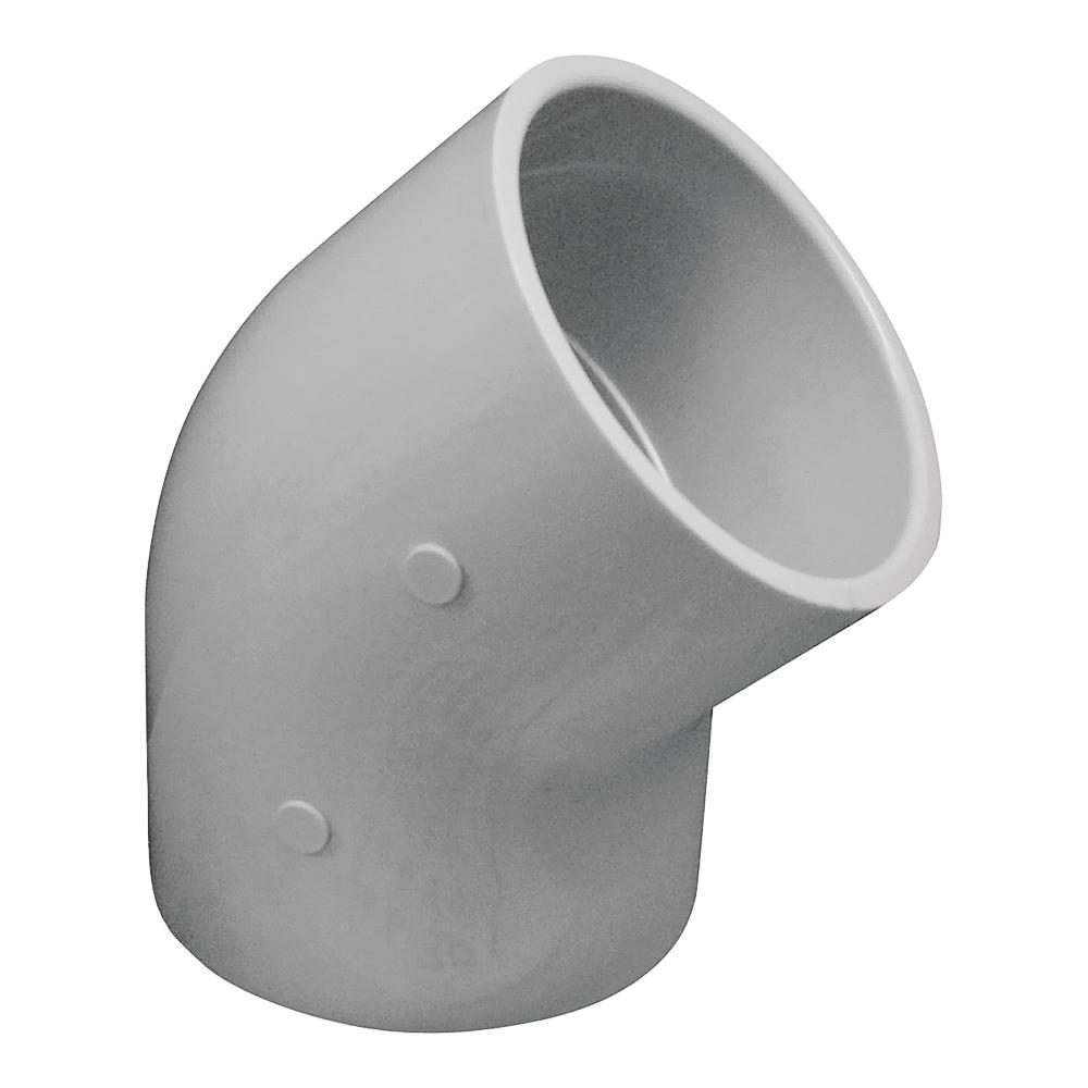 Picture of GENOVA 300 30630 Pipe Elbow, 3 in, Slip, 45 deg Angle, PVC, White, SCH 40 Schedule