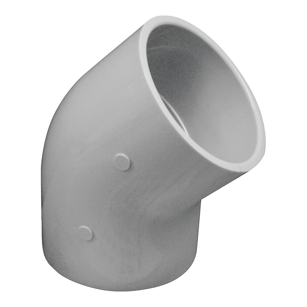Picture of GENOVA 300 30640 Pipe Elbow, 4 in, Slip, 45 deg Angle, PVC, White, SCH 40 Schedule