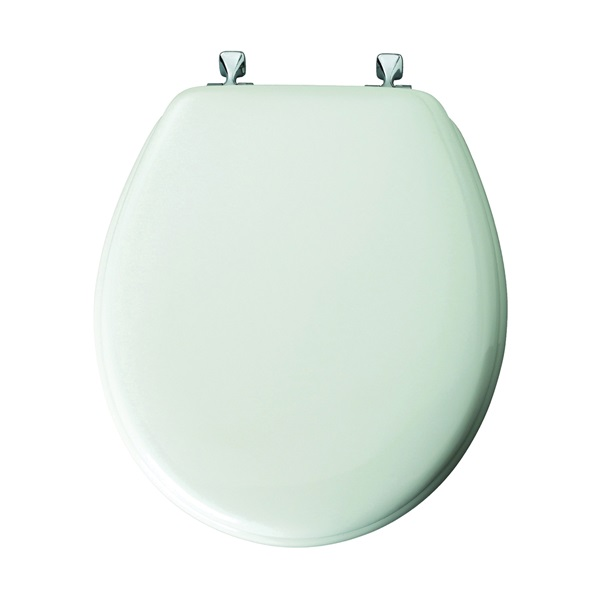 Picture of BEMIS 44CP-000 Toilet Seat, Round, Wood, White