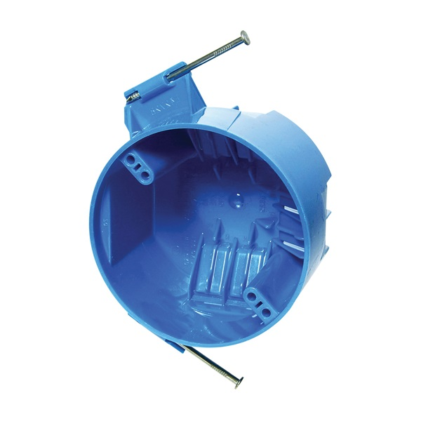 Picture of Carlon B520A-UPC Ceiling Box, 2-1/4 in D, 1-Gang, Polycarbonate, Blue