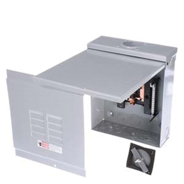 Picture of Siemens Murray E Series E0204ML1060SU Load Center, 60 A, 2-Space, 4-Circuit, Main Lug, NEMA 1 Enclosure, Gray