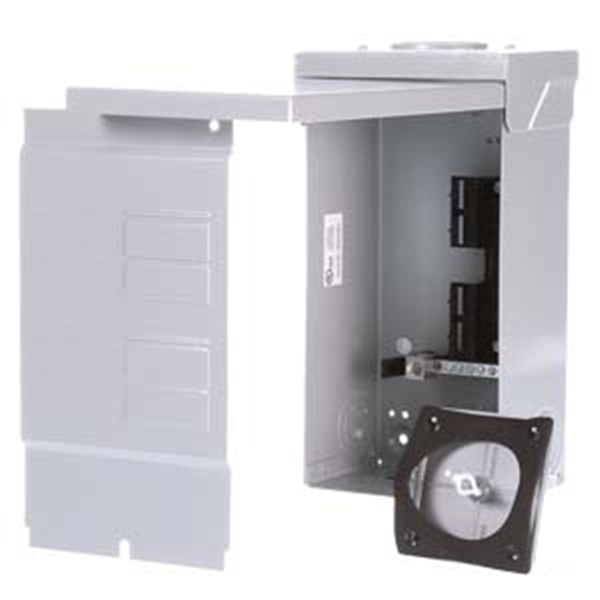 Picture of Siemens Murray EQ Series W0408ML1125U Load Center, 125 A, 4-Space, 8-Circuit, Main Lug, NEMA 3R Enclosure, Gray