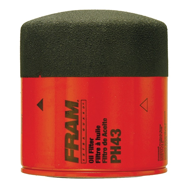 Picture of FRAM PH43 Full-Flow Lube Oil Filter, 3/4- 16 Connection, Threaded, Cellulose, Synthetic Glass Filter Media