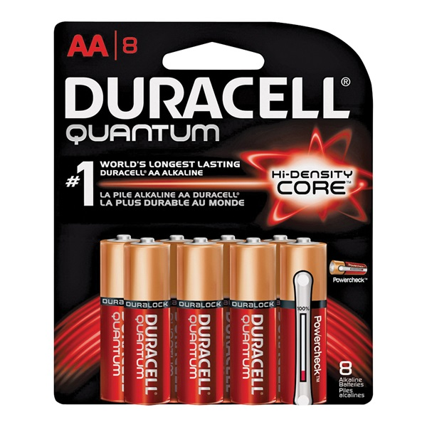 Picture of DURACELL 66225 Alkaline Battery, 1.5 V Battery, AA Battery