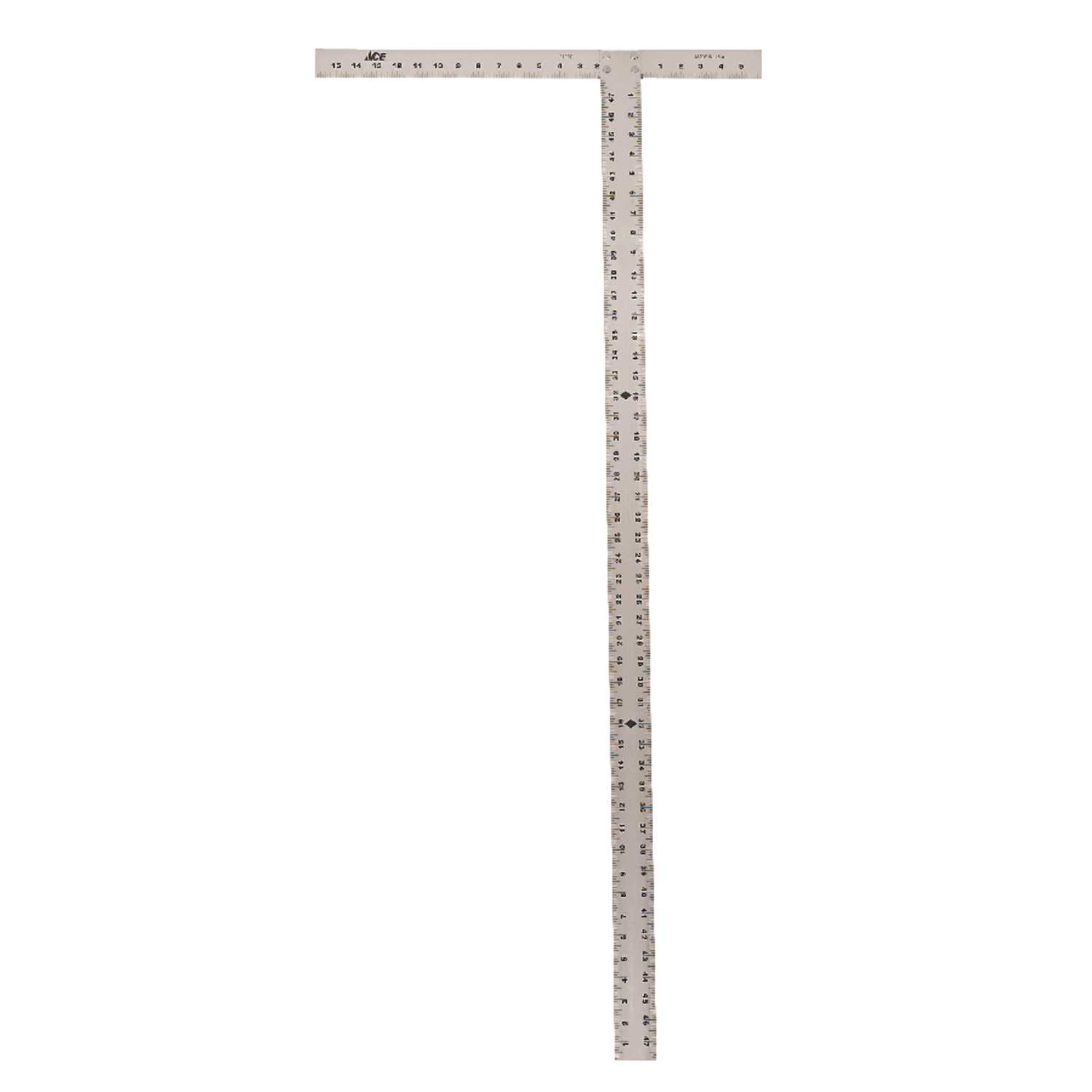 Picture of ACE 21227 Drywall T-Square, 1/8 in Graduation, Aluminum