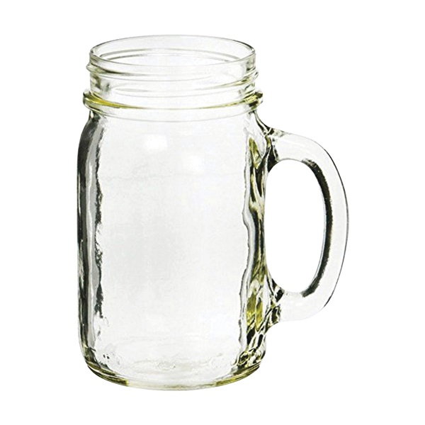 Picture of Ball 41702 Drinking Mug, 16 oz Capacity, Glass, Clear