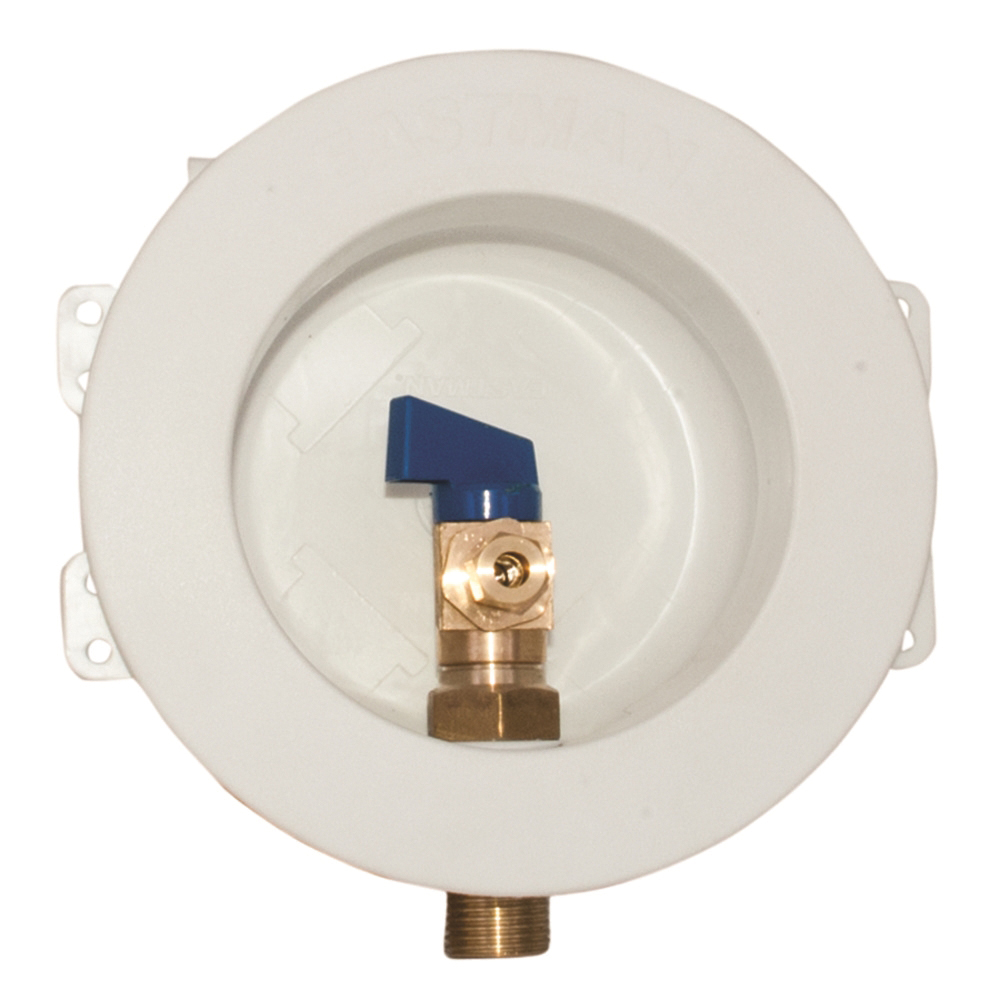 Picture of EASTMAN 60237 Ice Maker Outlet Box, Round, Brass