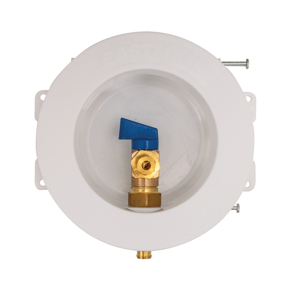 Picture of EASTMAN 60238 Ice Maker Outlet Box, Round, Brass