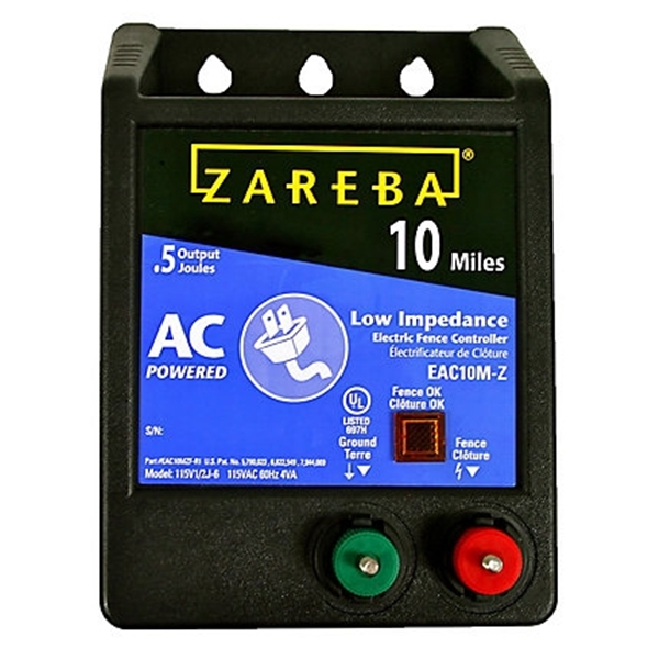 Picture of Zareba EAC10M-Z Electric Fence Charger, 0.5 J Output Energy, 115 V