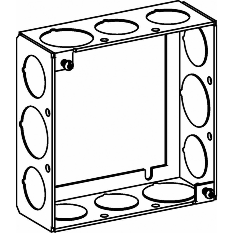 Picture of Orbit 4SB-50/75-EXT Extension Ring, 1-1/2 in L, 4 in W, 12-Knockout, Steel, Galvanized