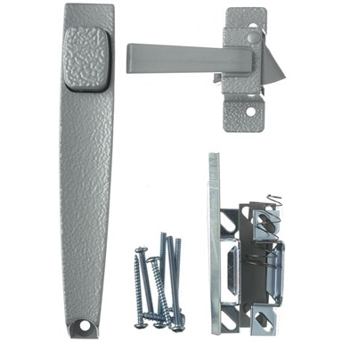 Picture of Wright Products V398 Pushbutton Latch, 3/4 to 1-1/4 in Thick Door, For: Out-Swinging Wood/Metal Screen, Storm Doors