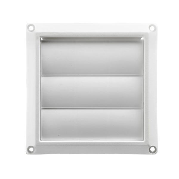 Picture of ACE ACEHSR4W Vent Hood, 4 in L x 4 in W Rough Opening, Plastic Hood, White Hood
