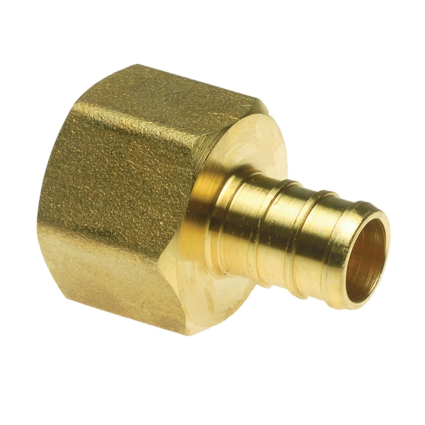 Picture of Apollo APXFA1212 Pipe Adapter, 1/2 in, PEX x FPT, Brass, 200 psi Pressure