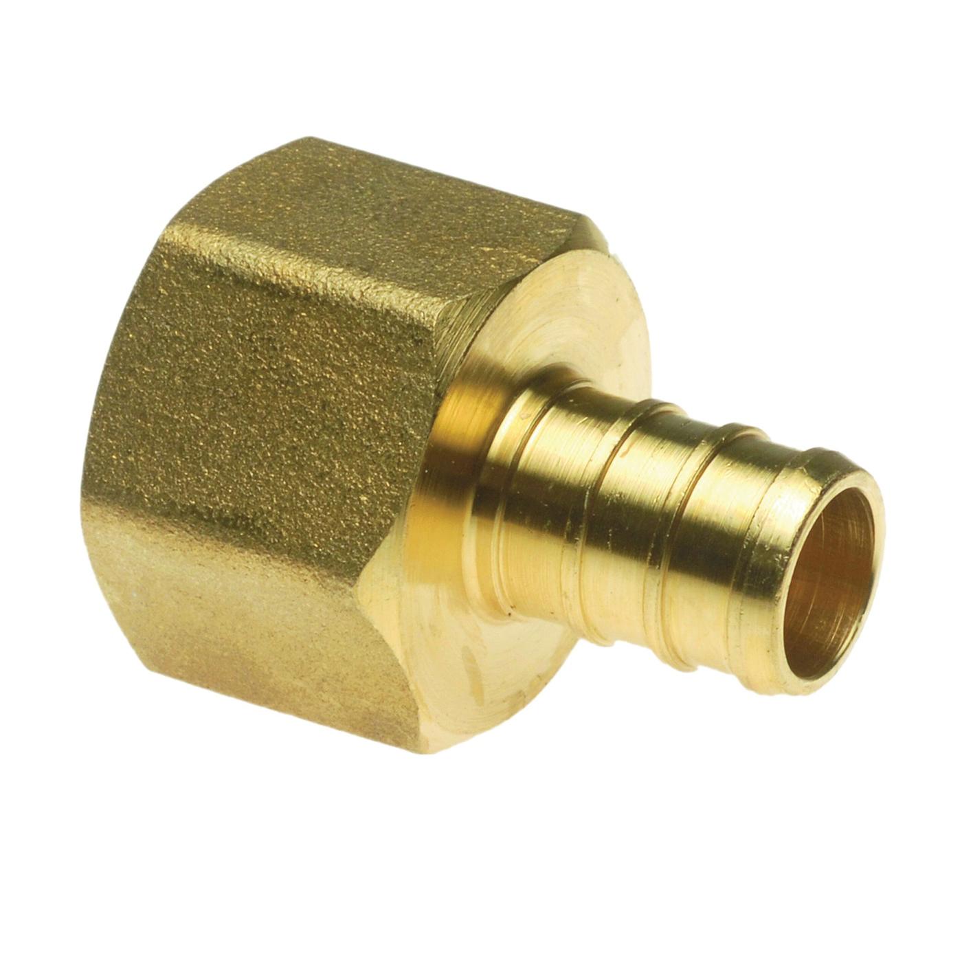 Picture of Apollo APXFA12125PK Pipe Adapter, 1/2 in, PEX x FPT, Brass, 200 psi Pressure