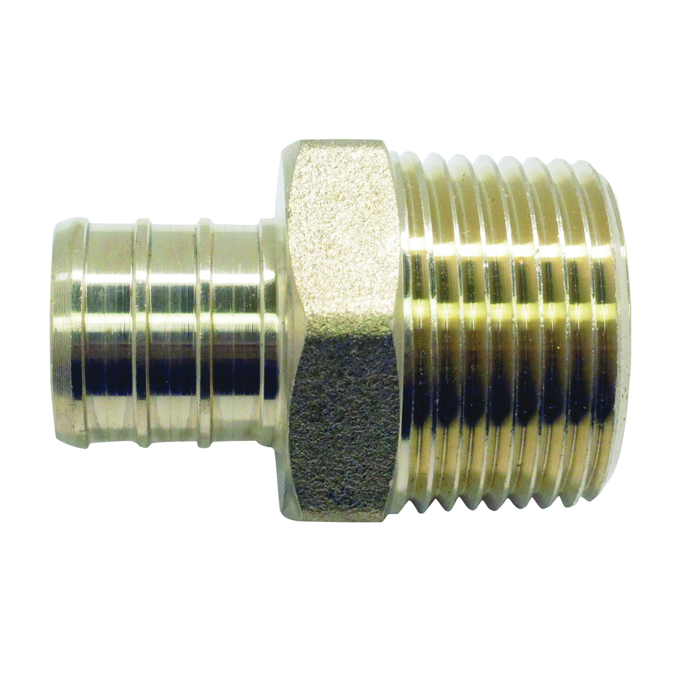 Picture of Apollo APXMA3434 Pipe Adapter, 3/4 in, PEX x MPT, Brass, 200 psi Pressure