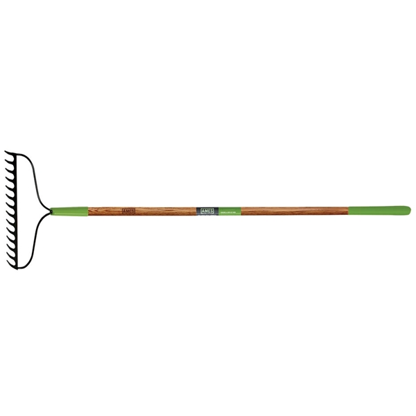 Picture of AMES 2825300 Bow Rake, 2-3/4 in L Head, 15-3/4 in W Head, 16 -Tine, Steel Tine, Steel Head, 57-1/2 in L Handle