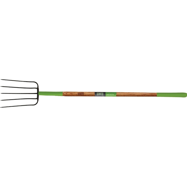 Picture of AMES 2826800 Manure Fork, Steel Tine, Wood Handle, 61 in L Handle