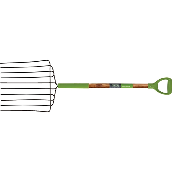 Picture of AMES 2827000 Ensilage Fork, Wood Handle, D-Shaped Handle, 30 in L Handle