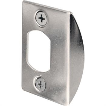 Picture of Defender Security E2234 Latch Strike, 2-1/4 in L, 1-7/16 in W, Steel, Chrome