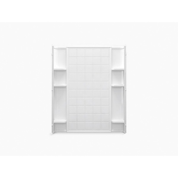 Picture of Sterling Ensemble 72132100-0 Shower Back Wall, 60 in W, Vikrell, White, High-Gloss, Alcove Mounting
