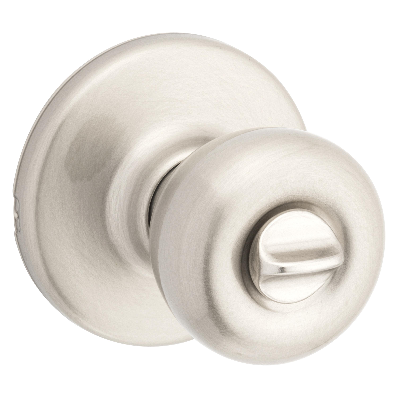 Picture of Kwikset 300T-15 CP Privacy Door Knob, Satin Nickel