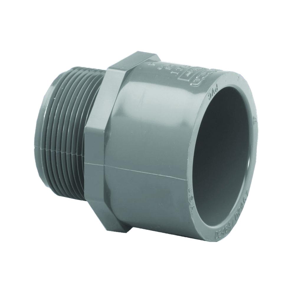 Picture of GENOVA 300 304158 Pipe Adapter, 1-1/2 in, Slip x MIP, PVC, SCH 80 Schedule