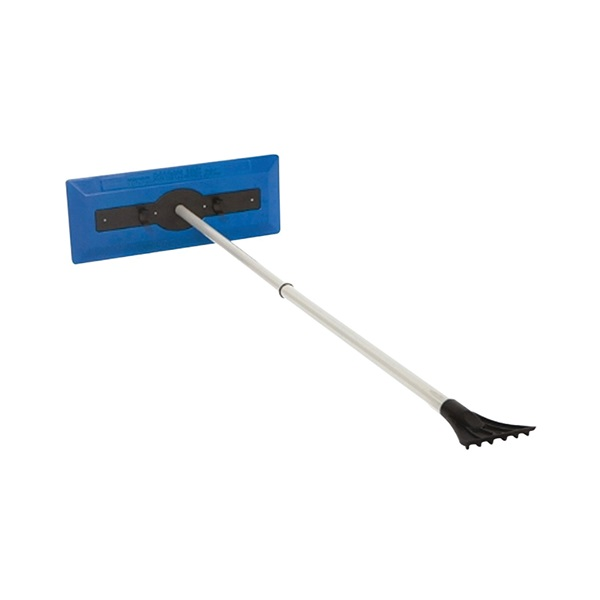 Picture of Snow Joe SJBLZD Snow Broom, 7 in W Blade, Polyethylene Blade, 18 in OAL, 30 to 49 in L Handle, Aluminum Handle