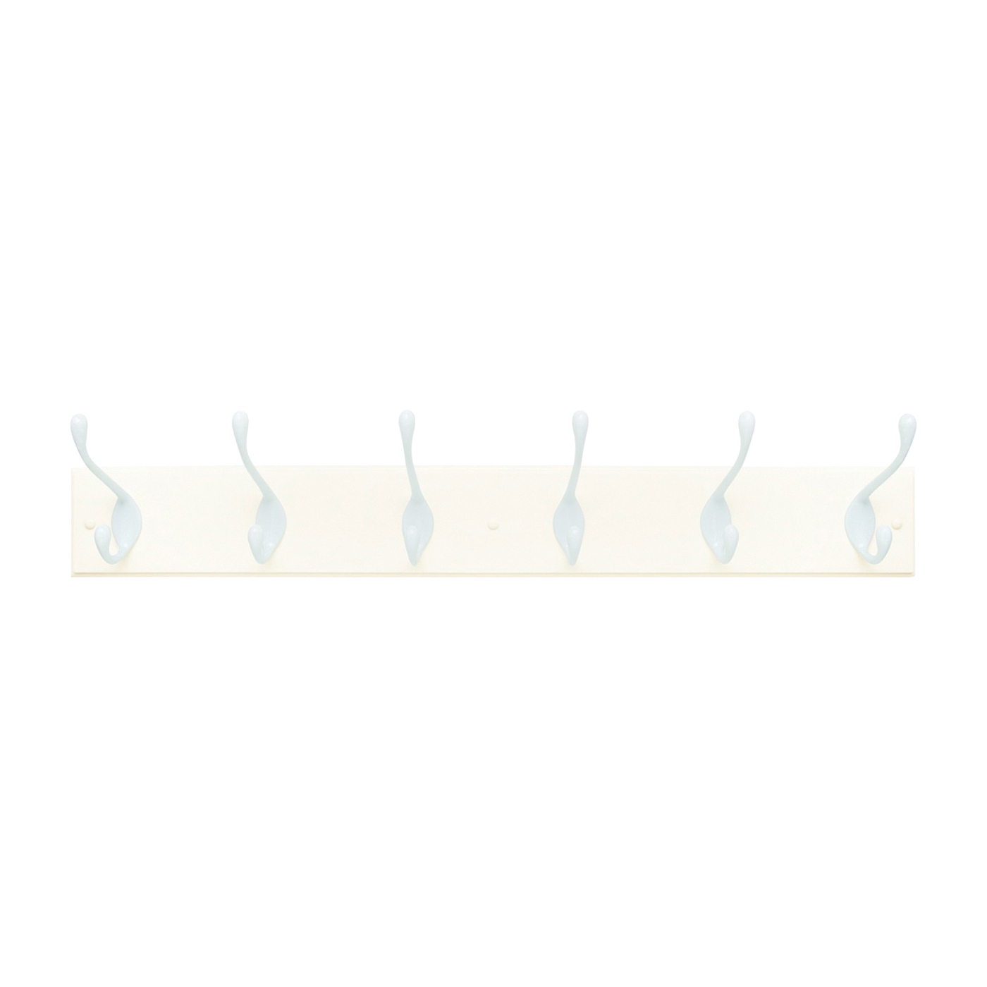 Picture of Amerock 2000325 Hook Rack, 6-Hook, MDF/Zinc