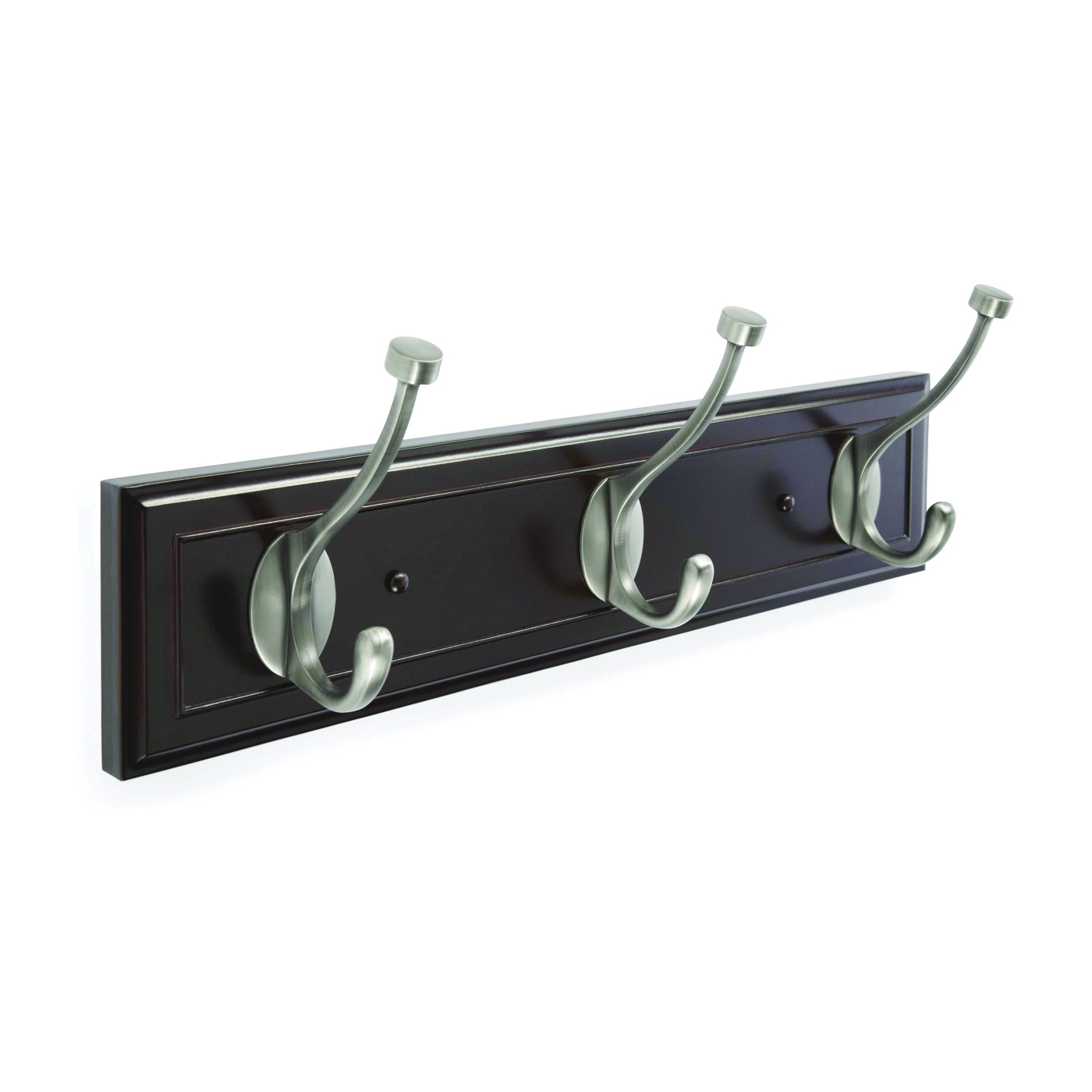 Picture of Amerock 2000330 Hook Rack, 3-Hook, MDF/Zinc, Oil-Rubbed Bronze