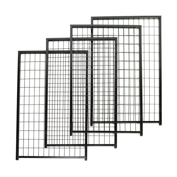 Picture of Stephens Pipe & Steel RSHBK11-11800 Dog Kennel Panel, 2-1/2 ft OAW, 4 ft OAH, Powder-Coated, Black