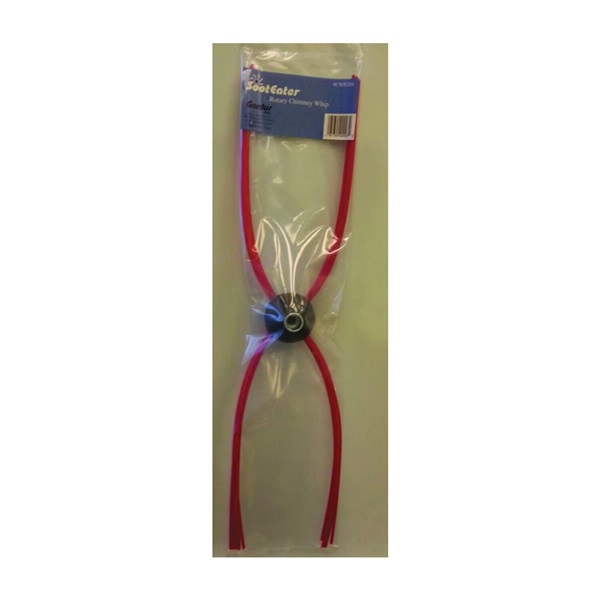 Picture of SootEater CWH208 Chimney Whip Head, 4-1/2 in Dia, Plastic, Red