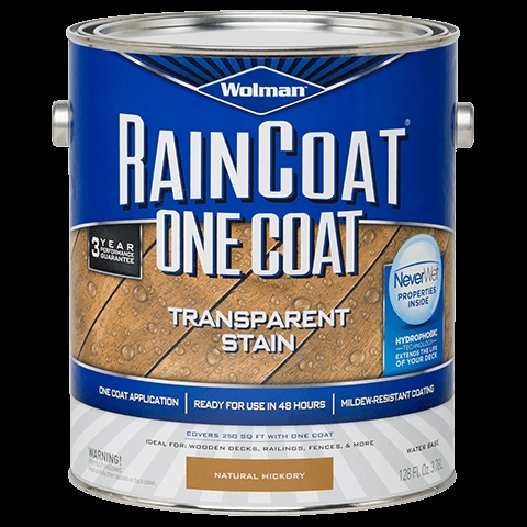 Picture of WOLMAN RainCoat 288337 Wood Sealer, Natural Cedar, Liquid, 1 gal, Can